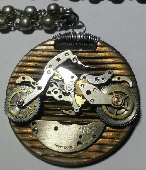 I make various items of jewelry out of watch parts.