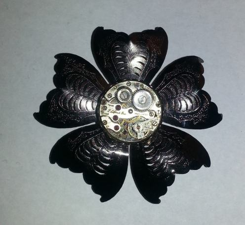 Watch Part Brooch