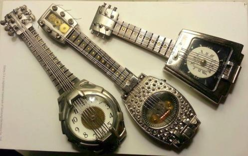 More fun with watch parts. Guitars are great because you can really let your imagination go!