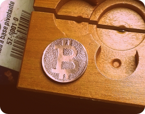 Tried to make a Bitcoin out of a Canadian Penny. First time trying something like this.